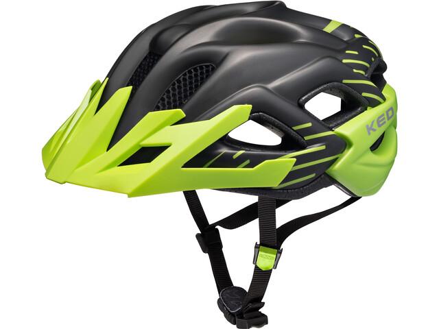KED Status Jr. Helmet Barn black green matt